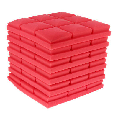 6Pcs of Pack Acoustic Foam Panel Soundproofing Foam for Musical Parts Red
