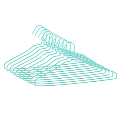 Pack of 10 Strong Coated Wire Metal Hanger Non Slip Bulk