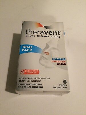 Theravent Snore Therapy Strips Trial Pack 6 Vented Snore Strips exp.05/20