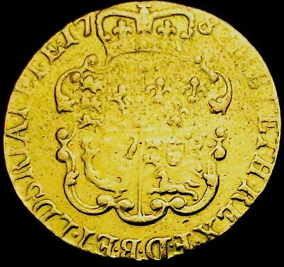 V066: 1782 Full George III Shield GOLD GUINEA, Fourth Head, ex mount, Spink 3728