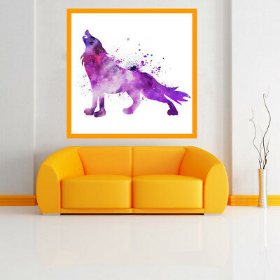Purple Wolf Poster Print Decorative Paint Picture Canvas Art Home Wall Room