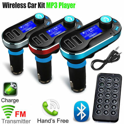 Wireless Bluetooth FM Transmitter Radio In Car Kit MP3 Music Player USB Charging