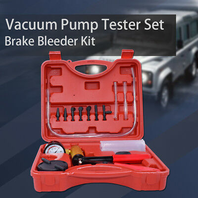 Hand Held Vacuum Pressure Pump Brake Fluid Bleeder Tester Tool Kit for Truck Car
