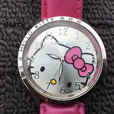 "HELLO KITTY ""Hot Pink"" Awesome Women's Fashion Analog Wristwatch Watch"