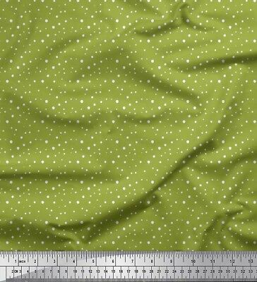 Soimoi Fabric White Dots Decor Fabric Printed BTY - DT-17D