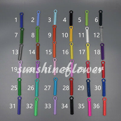 1040x Dental Orthodontic Elastic Braces Rubber Ligature Ties O Rings 37 Colors