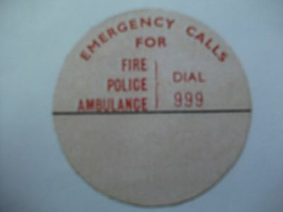 Retro/Vintage reproduced dial phone labels