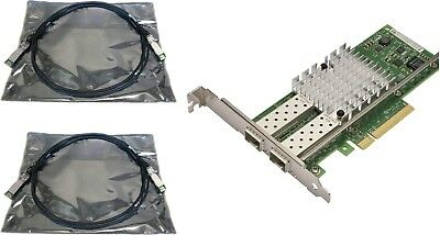 INTEL X520-DA2 SFP+ Dual Port PCIe 10Gb 10Gbe NIC SFP+ FH or HH bracket +2  Cable