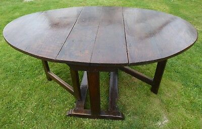 Country Oak Cottage Drop Flap Table 1660  Free Shipping Mainland England