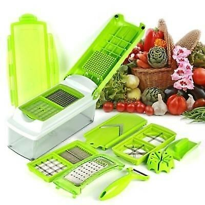 NEW 12 in 1 Nicer Dicer Slicer Fruit Vegetable Peeler Chopper Grater Juicer