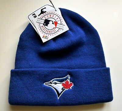BLUE JAYS Toronto Blue BEANIE TOQUE Hat OSFA Baseball MLB NEW Tags MLB Canada