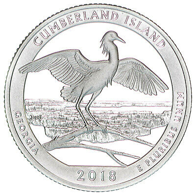 2018 S Cumberland Island National Seashore 90% Silver Quarter ATB Gem Proof Dcam