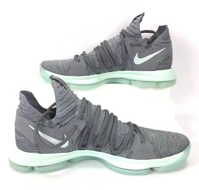 8e1c61429cab Nike Zoom KD 10 X Basketball Shoes Cool Grey Igloo White Mint Men Size 13.5
