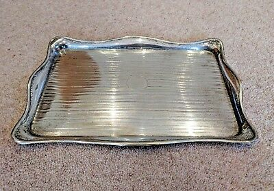 Antique Sterling Silver Serving Tray - Makers Mark A & C