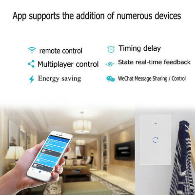 WIFI Switch Smart Touch Control Home Wireless Remote Light Wall Panel