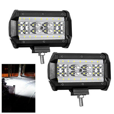 """2x 5"""" 168W Super Bright LED Work Light Flood Bar Combo Driving Off-Road Tractor"""