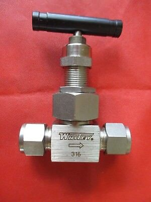 "SS Severe Service Union Needle Valve 1/2"" Tube Fitting -Whitey SS-6NBS8-G"