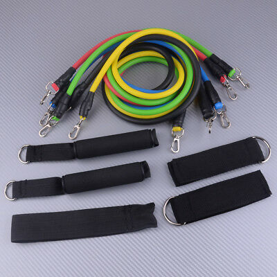 Yoga Pull Exercise Elastic Gym Resistance Band 11pcs Rope Fitness Comfortable