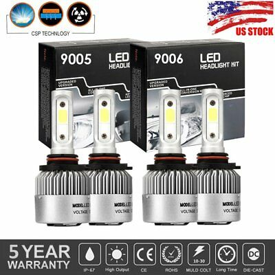4x 9005 9006 LED Headlight Kit HB3 9145 9140 Fog Light 1400W 210000LM 6000K Bulb