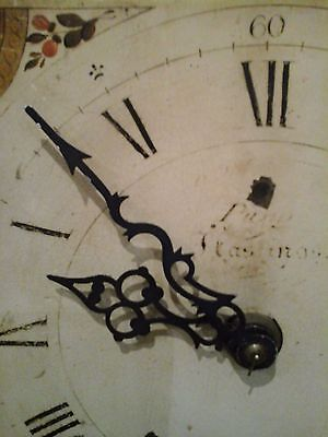 Original Antique French Comptoise/Mora Long Case Clock Face~Deco Floral Repousse