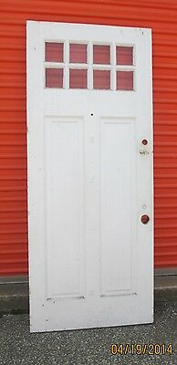 Exterior Antique Wood Door 8 Panes Of Glass 34 X 81 1/2 Can Ship!!!!!!