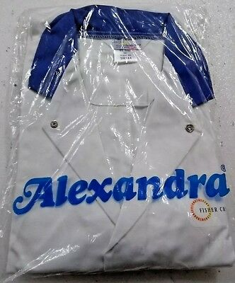 Alexandra Work Wear White With Blue Collar Long Sleeve Tunic Branded  Euro 36