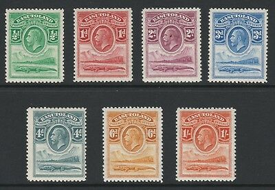 Basutoland 1933 George V Set to 1/- SG 1-7 Mnh.
