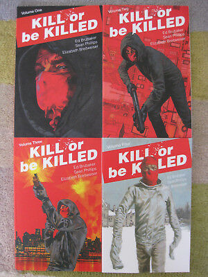 Kill Or Be Killed – Volumes 1-4 Tpb – All Signed By Sean Phillips