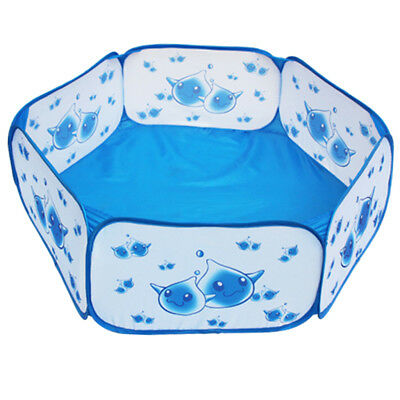 Blue Hexagon Ball Pit Pop up Play Tent for Kids Indoor Outdoor Use, 100x29cm