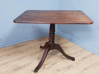 Antique Victorian Mahogany Rectangular Tilt Top Occasional Wine Table