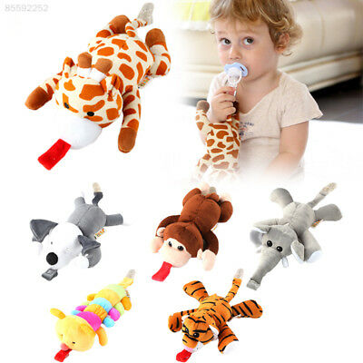43E6 Baby Silicone Pacifier With Animal Plush Toy Soft Dummies Soothers Nippler