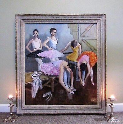 The Ballerina Dancers FABULOUS GRAND SCALE ORIGINAL IMPRESSIONIST OIL PAINTING