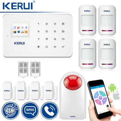 KERUI G18 GSM SMS Home House Office Security Alarm System 110db Outdoor Siren