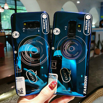 3D Camera with Holder Grip Relief Cover Case Samsung Galaxy S8 S9 Plus Note 9 8