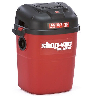 Shop-Vac 3940100 3-1/2-Gallon 3-HP Wall Mount Wet Dry Vacuum