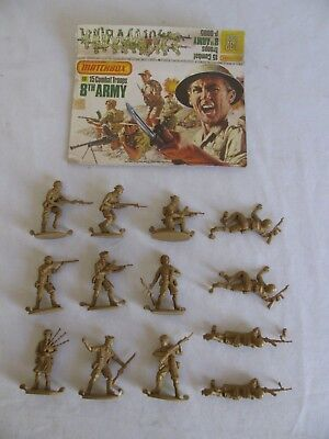 Matchbox 1/32 Scale British 8th Army Combat Troops Playset Figures #P6005 EX