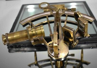 Marine Captain Sextant Brass Nautical Sextant - Henry Barrow, London - Excellent
