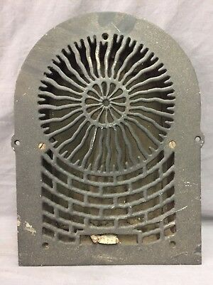 Antique Cast Iron Arch Sun Burst Heat Grate Wall Register 8X12 Dome Vtg  43-19D