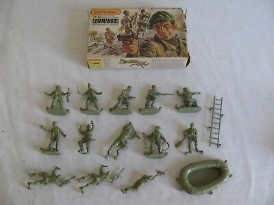 Matchbox 1/32 Scale British Commandos Combat Troops Playset Figures #P6006 NIB