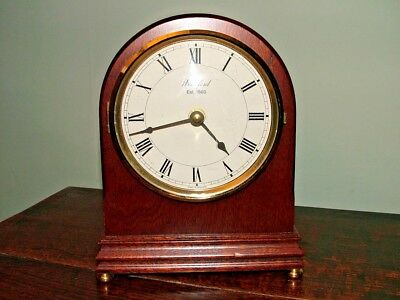 Genuine Original Woodford England Mahogany Mantle Clock Perfect Working Order