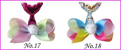 "20 BLESSING Good Girl Boutique 4.5""  ABC Hair Bow Clip Mermaids Accessories"