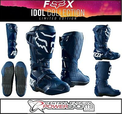 7019ed8378f NEW 2019 FOX Racing Limited Edition Comp R Idol Boot Adult Navy Multiple  Sizes
