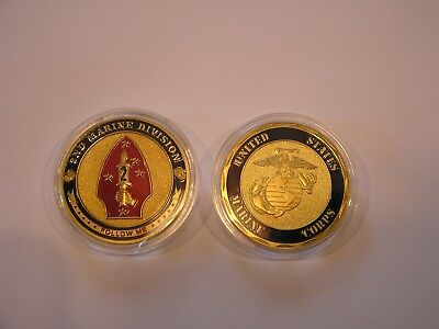 *United States Marine Corps 2nd Division USMC Military Challenge Coin