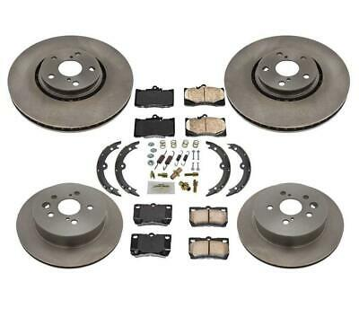 REAR SET Performance Cross Drilled Slotted Brake Disc Rotors TBS35513 FRONT
