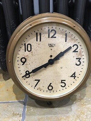 Smiths Sectric Metal Clock Ship Railway Factory Industrial Vintage