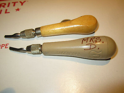 Vintage Lot Of 2 Hunt Mfg. Co. Speedball Linoleum Block Cutters