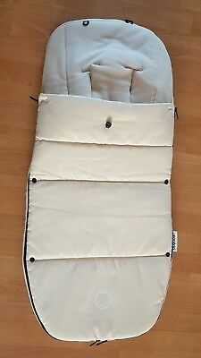 Bugaboo footmuff with cord fits cameleon, donkey, buffalo, bee Off white