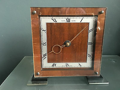 Stunning Deco 50S Temco Electric Mantel Clock In Working Order Good Condition