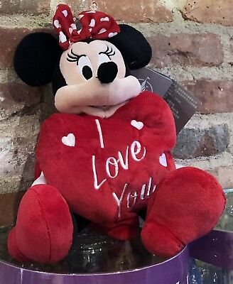 "Minnie Mouse Valentines Day Plush 11"" 2019 Walt Disney World Theme Parks NEW"