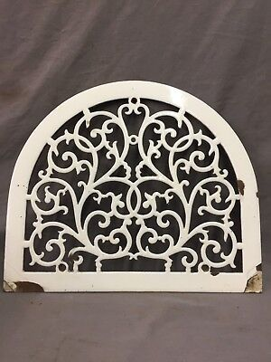 One Porcelain Antique Arched Top Heat Grate Grill Decorative Arch 13X11 46-19D